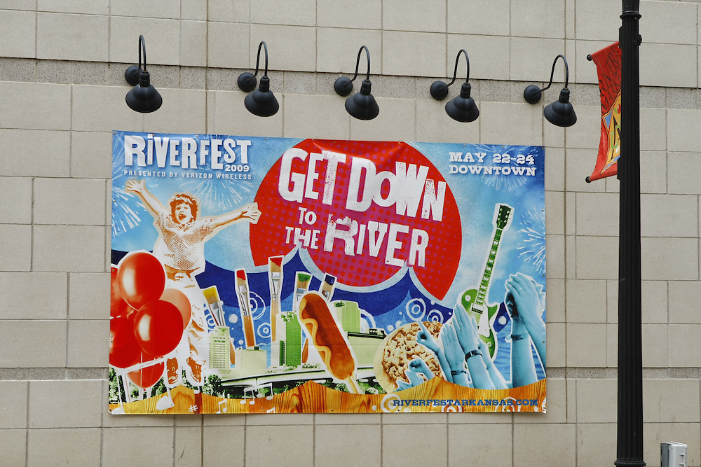 Arkansas Riverfest in Little Rock, Arkansas on the river downtown.  A three day music and entertainment festival.  2009