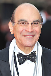 © Licensed to London News Pictures. 15/04/2012. London, England. David Suchet attends the 2012  Olivier Awards at The Royal Opera House in Covent Garden London on April 15th, England. Photo credit : ALAN ROXBOROUGH/LNP