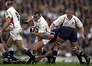 Twickenham, Surrey, 22nd March 2003,  RFU Twickenham Stadium, England, [Mandatory Credit; Peter Spurrier/Intersport Images]<br /> <br /> RBS Six Nations Rugby England v Scotland<br /> Steve Thompson runs for the gap.