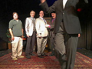 Lindenhurst, New York, USA. September 23, 2018. (L-R) Executive Producer TED PLEZIA, and magicians R.J .LEWIS, JOE SILKIE, BOB YORBURG, and DAVID ROSENFELD, and producer MIKE MAIONE pose after Comedy Magic Show presented by The Parlor of Mystery and South Shore Theatre Experience.