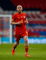 LONDON, ENGLAND - Thursday, October 8, 2020: Wales' Jonathan Williams during the International Friendly match between England and Wales at Wembley Stadium. The game was played behind closed doors due to the UK Government's social distancing laws prohibiting supporters from attending events inside stadiums as a result of the Coronavirus Pandemic. England won 3-0. (Pic by David Rawcliffe/Propaganda)