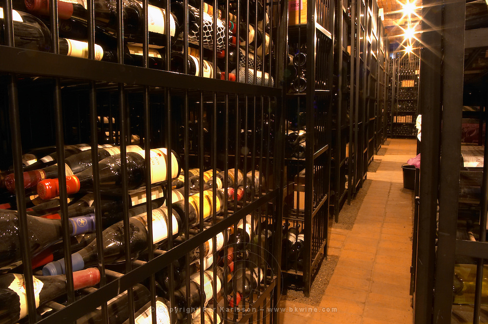 Wire cages with private wine collections At the wine cellar storage company Grappe in Stockholm where private individual s can store and age wine bottles. Källaren Grappe Wine Storage Cellar, Stockholm, Sweden, Sverige, Europe