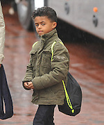 EXCLUSIVE<br /> DAVID BECKHAM UNICEF FOR CHILDREN FOOTBALL MATCH<br /> <br /> DUTCH FOOTBALL LEGEND PATRICK KLUIVERT TOOK HIS OWN SON WITH HIM, THESE EXCLUSIVE SNAPS SHOW HIS SON WAITING TO HEAD TO OLD TRAFFORD WITH HIS FAMOUS FATHER.<br /> ©Exclusivepix Media