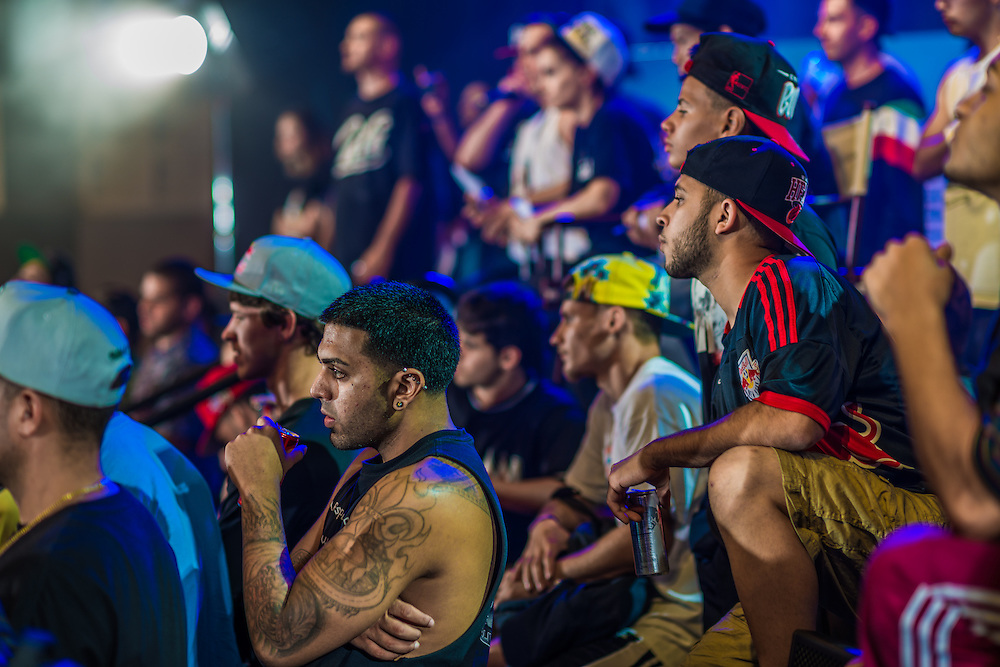 Onlookers watch a performancea  at RedBull BCOne Cypher in Orlando, Florida on June 30th 2013.