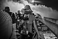 Photographer Sophie Germer at work, moments after the NOPD fire teargas at George Floyd protesters on the Crescent City Connection on June 3 in New Orleans.