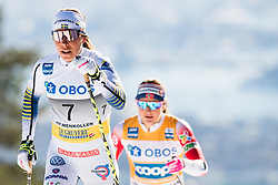 March 10, 2019 - Oslo, NORWAY - 190310 Charlotte Kalla of Sweden and Ingvild Flugstad Østberg of Norway compete in the women's 30 km classic technique mass start during the FIS World Cup on March 10, 2019 in Oslo..Photo: Jon Olav Nesvold / BILDBYRÃ…N / kod JE / 160424 (Credit Image: © Jon Olav Nesvold/Bildbyran via ZUMA Press)