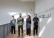 Venice, Biennale Architettura: Russia Pavillon, curators  fom left Vladimir Nadein, Ippolito Pestellini Laparelli, Erica Petrillo, Giacomo Ardesio
