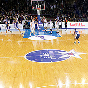Anadolu Efes's and Real Madrid's during their Turkish Airlines Euroleague Basketball Group A Round 5 match Anadolu Efes between Real Madrid at Abdi ipekci arena in Istanbul, Turkey, Thursday, November 14, 2014. Photo by Aykut AKICI/TURKPIX