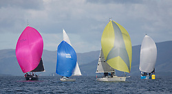 Largs Regatta Festival 2018<br /> <br /> Day 1 - GBR8272T, Satisfaction, Nicholas Marshall, St Mary's Loch SC, J 92, Excalibur, Brian Young, GBR9214R, Jammin, Doug & Alastair Paton, Fairlie Yacht Club, J92<br /> <br /> Images: Marc Turner