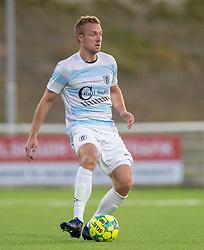 Jonas Henriksen (FC Helsingør) under kampen i 1. Division mellem FC Helsingør og Vendsyssel FF den 18. september 2020 på Helsingør Stadion (Foto: Claus Birch).