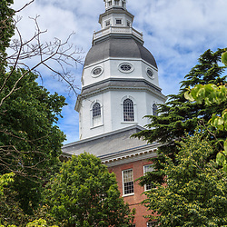Annapolis, MD, USA - May 20, 2012: View of the Maryland State House in Annapolis MD