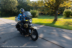Joe Burch (from Texas) riding his 1930 Harley-Davidson VL during the Cross Country Chase motorcycle endurance run from Sault Sainte Marie, MI to Key West, FL. (for vintage bikes from 1930-1948). Stage-6 from Chattanooga, TN to Macon, GA USA covered 258 miles. Wednesday, September 11, 2019. Photography ©2019 Michael Lichter.