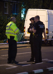 """©London News pictures... 17/11/2010. Police at the scene. One person has died today (Wed) and a number of people have been arrested in a """"serious incident"""" in Sunningdale, Berkshire."""