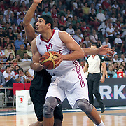 Turkey's Enes KANTER during their Istanbul CUP 2011match played Turkey between New Zeland at Abdi Ipekci Arena in Istanbul, Turkey on 24 August 2011. Photo by TURKPIX