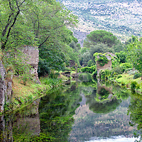 The beautiful and romantic Garden of Ninfa is located in the territory of Cisterna di Latina within the central Italian region of Lazio, Italy.