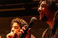 Mexico City, Mexico, November 22, 2012. Jose Maria Arreola speaks to the public the day he, Alonso Arreola and Mardonio Carballo intruduced Las Horas Perdidas book and disc.