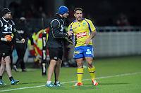 Franck AZEMA / Ludovic Radosavljevic  - 28.12.2014 - Lyon Olympique / Clermont - 14eme journee de Top 14 <br />Photo : Jean Paul Thomas / Icon Sport