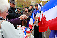 selling French flags, Place de la Republique, Paris