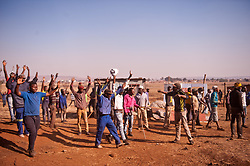 South Africa – Johannesburg – Nanas Farm N12. A large group of land seekers gather on Nanas farm near Avalon cemetery along the N12 in Soweto. They are occupying land which they say should be given to them as the city is failing them with housing.  Metro police came in and demolished the illegal structures causing havoc. The drama unfolded near the highway causing traffic concerns. The land seekers say they will stay and rebuild their houses. Picture: Timothy Bernard/African News Agency(ANA)
