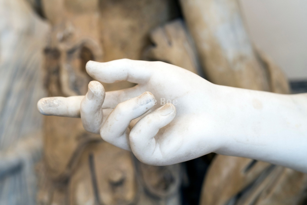 marble hand at the National Archaeological Museum Naples