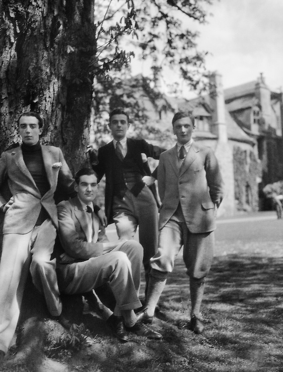 Undergraduates at Magdalen College, Oxford, England, 1925