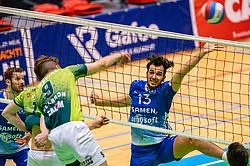 Hossein Ghanbari of Lycurgus in action during the semi cupfinal between Active Living Orion vs. Amysoft Lycurgus on April 03, 2021 in Saza Topsportshall Doetinchem