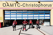 Innsbruck, rescue operation with the team at the Heliport in Innsbruck