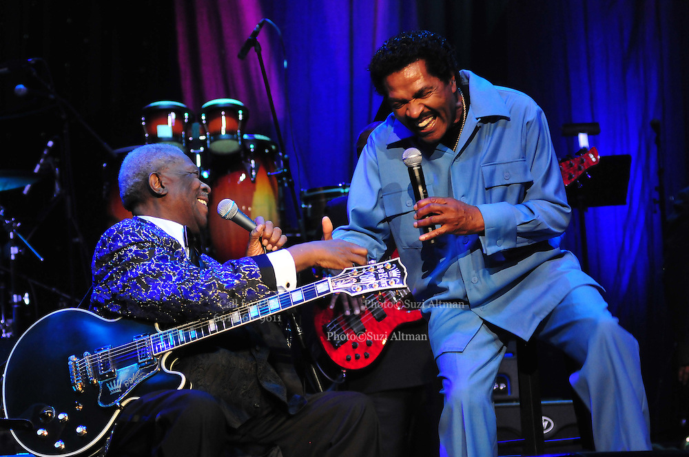 Legendary musician B B King performs with Bobby Rush at the Beau Rivage in Biloxi as part of the Mississippi Grammy Legacy Celebration Tuesday June 7,2011. The Grammys announced they are opening a museum in Cleveland Mississippi, the only other Grammy Music Museum in the Country other than in LA, CA. PHOTO©SUZI ALTMAN.COM..