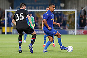 AFC Wimbledon striker Kweshi Appiah (9) \d during the Pre-Season Friendly match between AFC Wimbledon and Crystal Palace at the Cherry Red Records Stadium, Kingston, England on 30 July 2019.