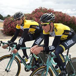 15-05-2015: Wielrennen: Amgen Tour of California: USA<br /> Mike Teunissen en Dennis van Winden