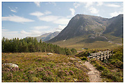 Hiking in Clencoe in the Scottish Highlands