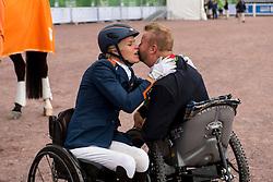 Lee Pearson, GBR, Nicole den Dulk, NED,  - Individual Test Grade Ib Para Dressage - Alltech FEI World Equestrian Games™ 2014 - Normandy, France.<br /> © Hippo Foto Team - Jon Stroud <br /> 25/06/14