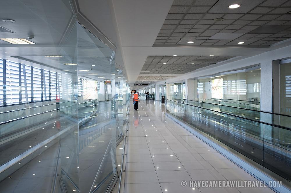 In the international terminal of Mexico City International Airport (Aeropuerto Internacional de la Ciudad de México).
