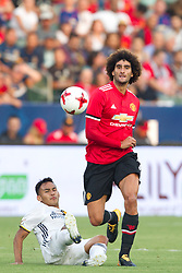 July 15, 2017 - Carson, California, U.S - Manchester United M Marouane Fellani (27) in action during the summer friendly between Manchester United and the Los Angeles Galaxy at the StubHub Center. (Credit Image: © Brandon Parry via ZUMA Wire)