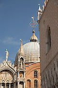 St Mark's Basilica seen from St Mark's Square. Venice. Italy, Europe