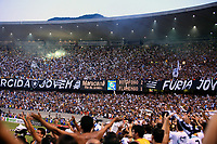 Rio de Janeiro, Brazil - September 13, 2007: Botafogo supporters at the soccer rio state championship 2007 final between Flamengo and Botafogo in the Old Maracana stadium