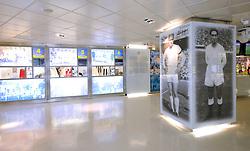 THEMENBILD, ESTADIO SANTIAGO BERNABEU, es ist das Fußballstadion des spanischen Vereins Real Madrid. Es liegt im Zentrum der Stadt Madrid im Viertel Chamartin. Seit der letzten Modernisierung im Jahr 2005 fasst es 80.354 Zuschauer und ist seit 14. November 2007 als UEFA-Elite-Stadion ausgezeichnet, der hoechsten Klassifikation des Europaeischen Fußballverbandes. Das Stadion wurde am 14. Dezember 1947 als Nuevo Estadio Chamartin mit 75.000 Plaetzen offiziell eroeffnet. Am 14. Januar 1955 stimmte die Mitgliederversammlung des Klubs für die Umbenennung des Stadions zu Ehren des damaligen Vereinspraesidenten Santiago Bernabeu, nach dessen Vision die Spielstaette gebaut wurde. Im Bild Vitrine in der Museum. Bild aufgenommen am 27.03.2012. EXPA Pictures © 2012, PhotoCredit: EXPA/ Eibner/ Michael Weber..***** ATTENTION - OUT OF GER *****