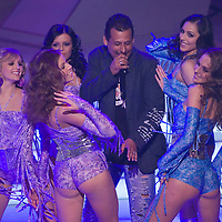 Hungarian singer BeBe performs with the participants of The Queen live TV show hosts the three beauty contests Miss World Hungary, Miss Universe Hungary and Miss Earth Hungary, held in RTL Klub television headquarter Media Center Campona, Budapest, Hungary. Thursday, 13. May 2010. ATTILA VOLGYI