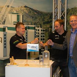 HARDERWIJK: CYCLING: SEPTEMBER 15th: <br /> De IJsselstreek gaat met ingang van 1 januari 2022 als continentaal wielerteam de weg op onder de noemer Allinq Continental Cycling Team. Daarmee heeft de vereniging uit Harderwijk twintig jaar na het verdwijnen van de Golff-wielerploeg weer een semiprofessioneel boegbeeld<br /> Marc Zonnebelt, Rudy Vriend, Wim Breukers