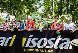 Supporters in Ljubljana during 1st Stage of 26th Tour of Slovenia 2019 cycling race between Ljubljana and Rogaska Slatina (171 km), on June 19, 2019 in  Slovenia. Photo by Vid Ponikvar / Sportida