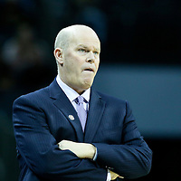 03 November 2015: Charlotte Hornets head coach Steve Clifford is seen during the Charlotte Hornets  130-105 victory over the Chicago Bulls, at the Time Warner Cable Arena, in Charlotte, North Carolina, USA.