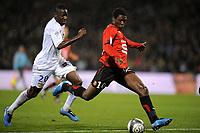 FOOTBALL - FRENCH CHAMPIONSHIP 2009/2010  - L1 - OLYMPIQUE LYONNAIS v STADE RENNAIS  - 29/11/2009 - PHOTO JEAN MARIE HERVIO / DPPI - GOAL ASAMOAH GYAN (REN)