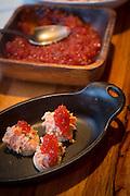 Salmon roe, <br /> Talon Lodge, Sitka, Alaska