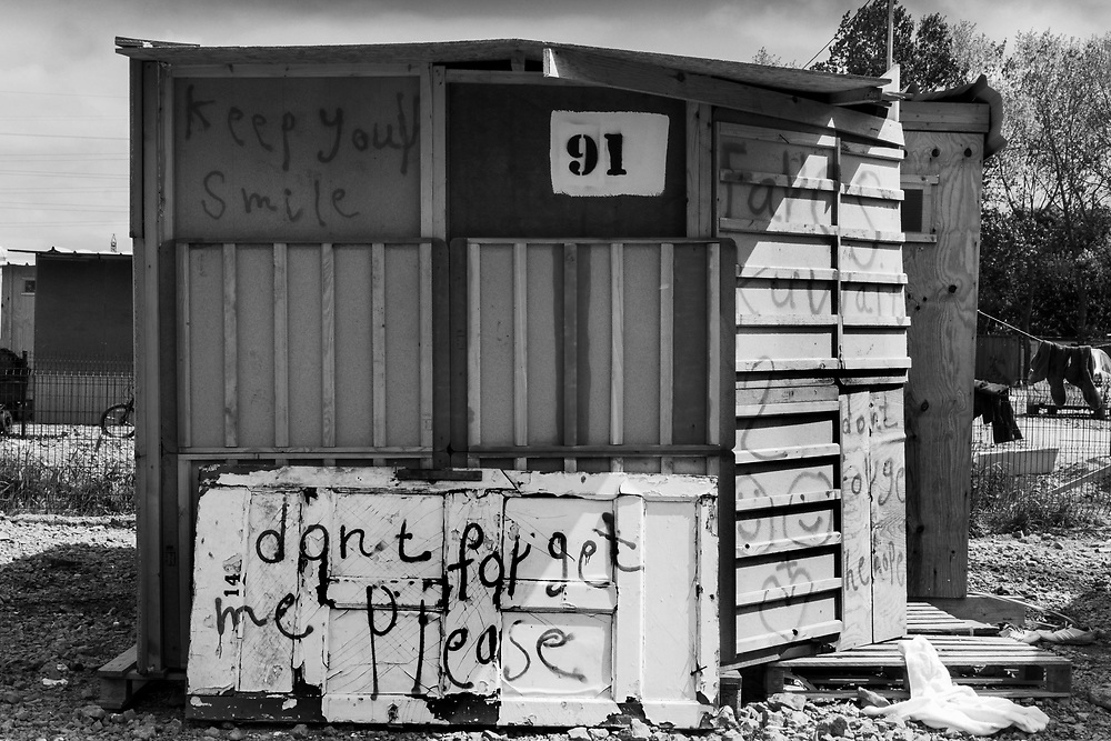 Don't forget me please. La Linière refugee camp, Grande-Synthe, Dunkirk<br /> May 2016