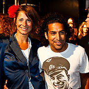 NLD/Amsterdam/20100629 - Premiere Twilight Saga - The Eclipse, Barbara Karel en partner DJ Amir Charles