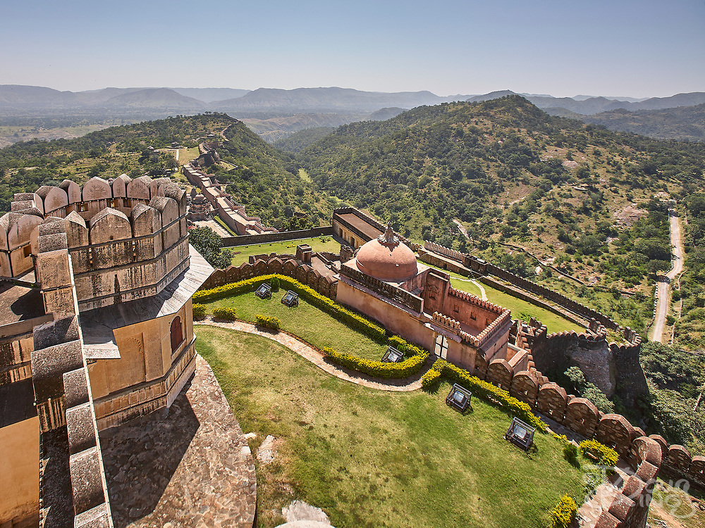 World Heritage Kumbhalgarh is one of the most impressive Mewar Hill Forts of Rajasthan India. The wall of the fort, extending over 38 km, is said to be the second-longest continuous wall after the Great Wall of China.