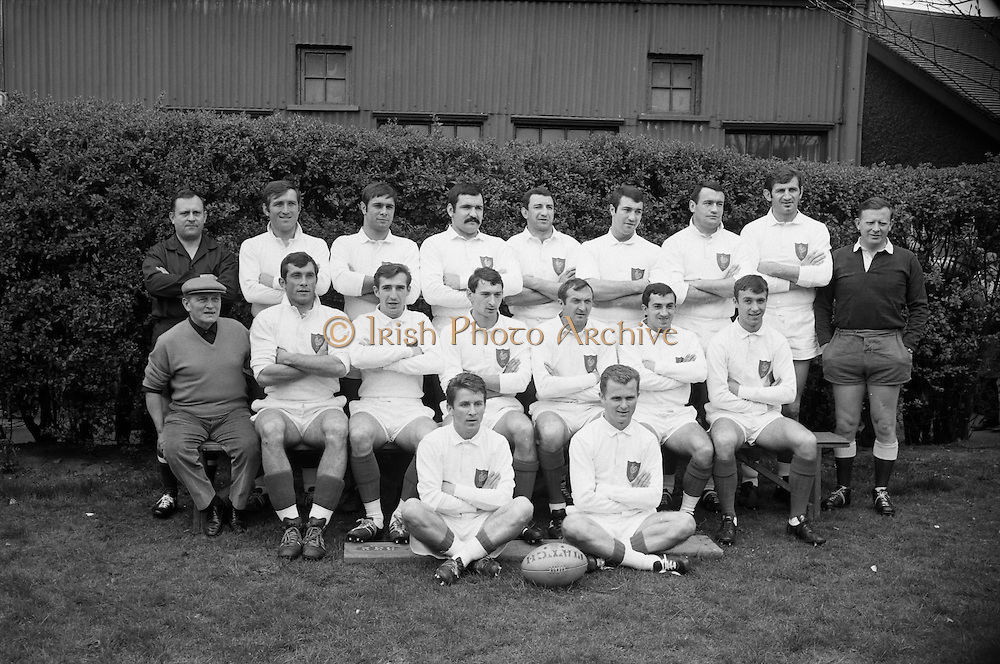 Irish Rugby Football Union, Ireland v France, Five Nations, Landsdowne Road, Dublin, Ireland, Saturday 15th April, 1967,.15.4.1967, 4.15.1967,..Referee- R P Burrell, Scottish Rugby Union, ..Score- Ireland 6- 11 France, ..French Team, ..P Villepreux, Wearing number 15 French jersey, Full Back, StadeToulousain Rugby Football Club, France,..C Darrouy, Wearing number 11 French jersey, Captain of the French team, Left Wing, Stade Montois Rugby Football Club, France,..J P Lux, Wearing number 12 French jersey, Left Centre, U.S Tyrossaise Rugby Football Club, France, ..C Dourthe, Wearing number 13 French jersey, Right Centre, U S Dacquoise Rugby Football Club, France,..J Gachassin, Wearing number 14 French jersey, Right Wing, F.C Lourdais Rugby Football Club, France, ..G Camberabero, Wearing number 10 French jersey, Stand Off, La Voulte Sportif Rugby Football Club, France,..L Camberabero, Wearing number 9 French jersey, Scrum Half, La Voulte Sportif Rugby Football Club, France,..A Herrero, Wearing number 8 French jersey, Forward, R.C Toulonnais Rugby Football Club, France,..C Carrere, Wearing number 7 French jersey, Forward, R.F Toulonnais Rugby Football Club, France,..M Sitjar, Wearing number 6 French jersey, Forward, S.U Agenais Rugby Football Club, France,..D Dauga, Wearing number 5 French jersey, Forward, Stade Montois Rugby Football Club, France,..J Fort, Wearing number 4 French jersey, Forward, S.U Agenais Rugby Football Club, France,..J C Berejnoi, Wearing number 3 French jersey, Forward, S C Tulliste Rugby Football Club, France,..J M Cabanier, Wearing number 2 French jersey, Forward, U S Montalbanaise Rugby Football Club, France,..A Gruarin, Wearing number 1 French jersey, Forward, R.C Toulonnais Rugby Football Club, France,.....