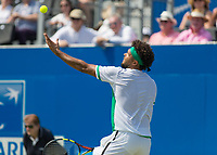 Tennis - 2017 Aegon Championships [Queen's Club Championship] - Day Three, Wednesday<br /> <br /> Men's Singles, Round of 16 - Gilles Muller (LUX) vs Jo-Wilfred Tsonga (Fra)<br /> <br /> Jo-Wilfried Tsonga (FRA) serves at Queens Club<br /> <br /> COLORSPORT/DANIEL BEARHAM
