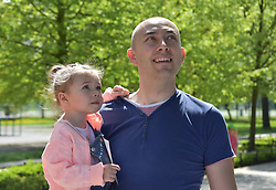 April 28, 2018 - Legnica, Poland - Ola Janiszewska was born with a half of her heart. The daughter's parents learned about her daughter's illness during routine tests for pregnant women. Ola has two operations done in a hospital in Poland. Another surgery is needed but none of the hospitals in Poland wants to do it. One chance for Ola who is currently 2 years old is surgery in Germany. Dad Oli is a policeman. They can not afford to pay for the operation. (Credit Image: © Piotr Twardysko via ZUMA Wire)