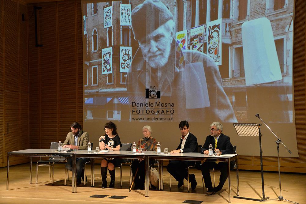 Ezra Pound's Places, Mayde Rachewiltz, roberta Capelli, Sergio Bernardini, Lorenzo Lome Rovereto 6 Aprile 2017 © foto Daniele Mosna